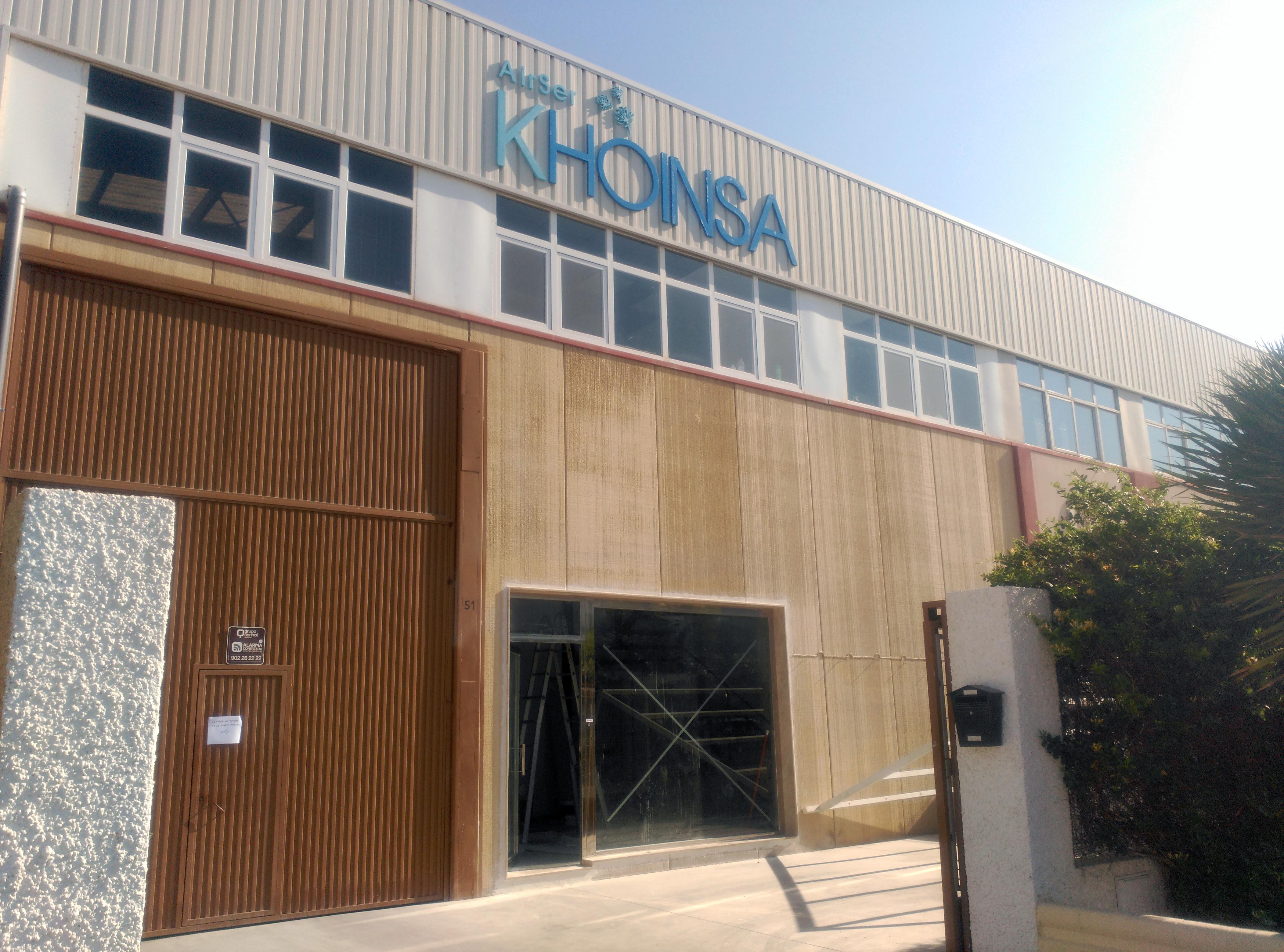 Fachada de la nave de airser khoinsa, aire acondicionado almería, nuevas instalaciones