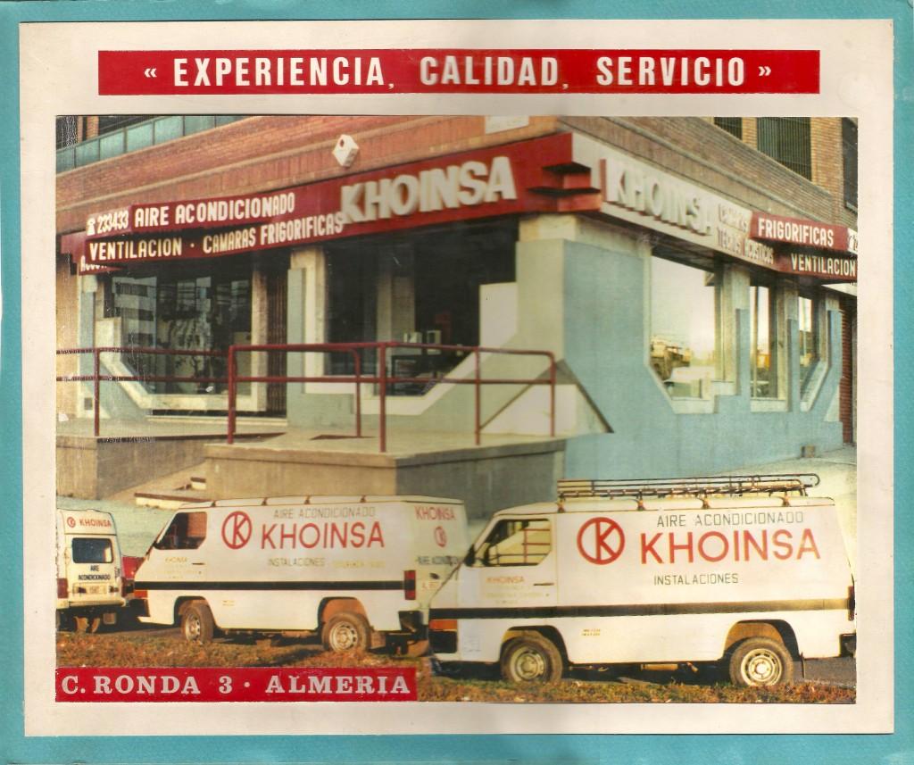 khoinsa empresa deaire acondicionado en Almería, climatización y frío indistrial